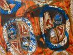 "Horse/Coffee, ""Hoffe"", 2013. egg tempera, acrylic, ink on canvas. 18 x 24"